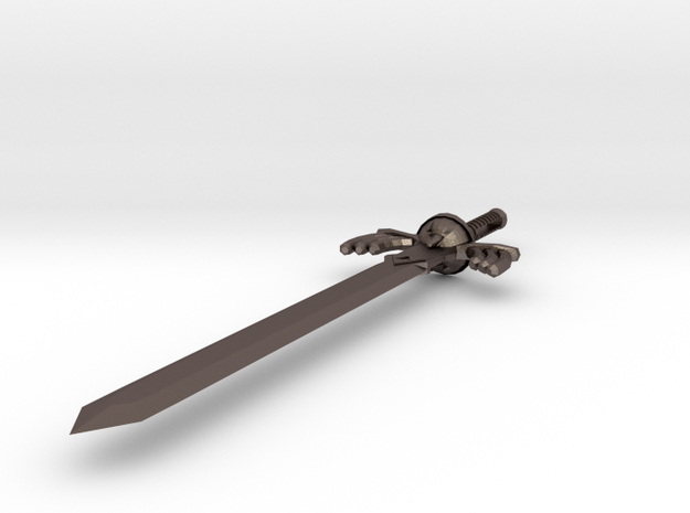 Master Sword Pendant in Polished Bronzed Silver Steel