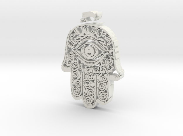 Hamsa in White Natural Versatile Plastic