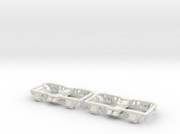 1:35 Sandy River passenger trucks in White Natural Versatile Plastic