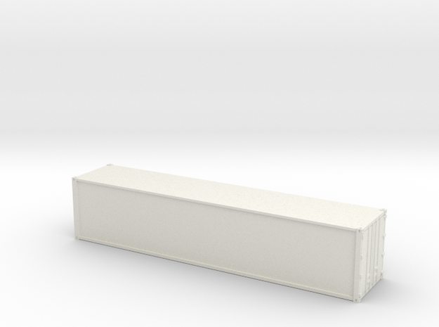 40ft Container Smooth, (NZ120 / TT, 1:120) in White Natural Versatile Plastic