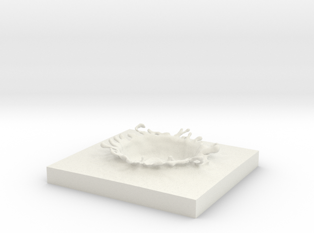 WATER SPLASH 10 in White Natural Versatile Plastic