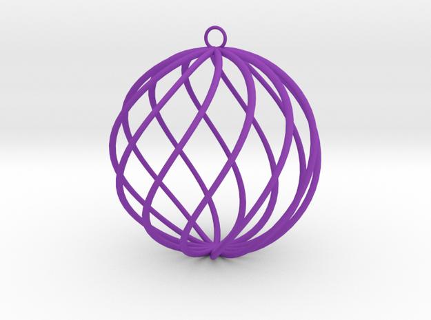 spiral christmas ball large 3d printed