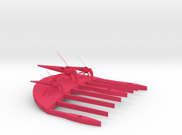 mosiquito comb3 in Pink Processed Versatile Plastic