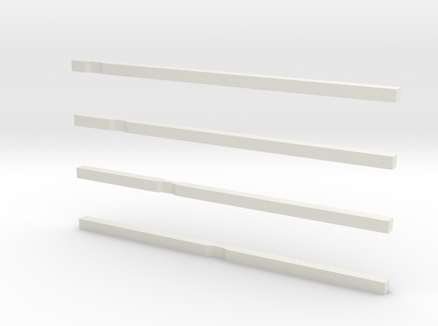 notched bars in White Natural Versatile Plastic