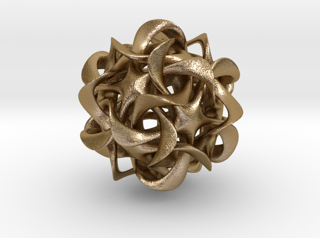 Dodecahedron VI, pendant 3d printed