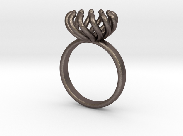 Magnetic Pearl Ring Size 7 3d printed