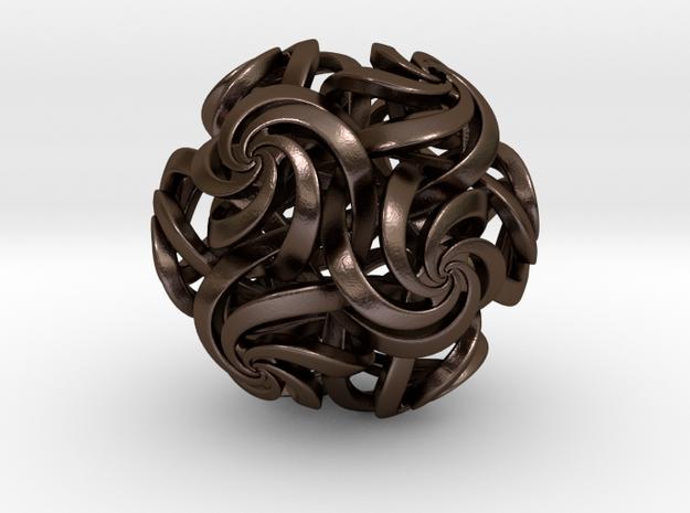 Rhombic triacontahedron IV, pendant 3d printed