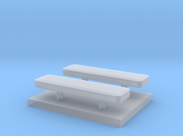 Whelen lightbar 13 mm 2 stuks 1/87 in Smooth Fine Detail Plastic