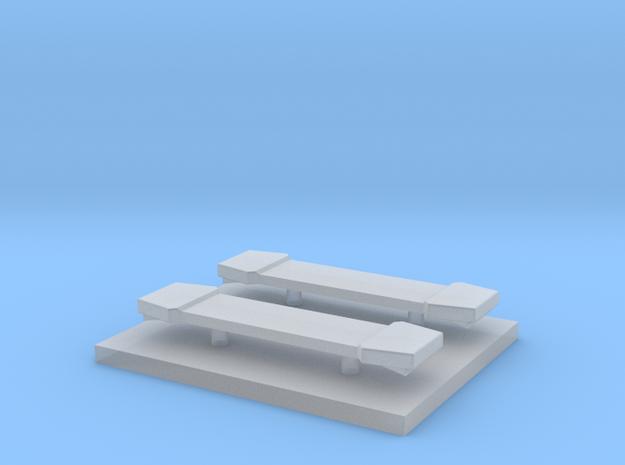 LED Lightbar 16,5 mm 2 stuks 1/87 in Smooth Fine Detail Plastic