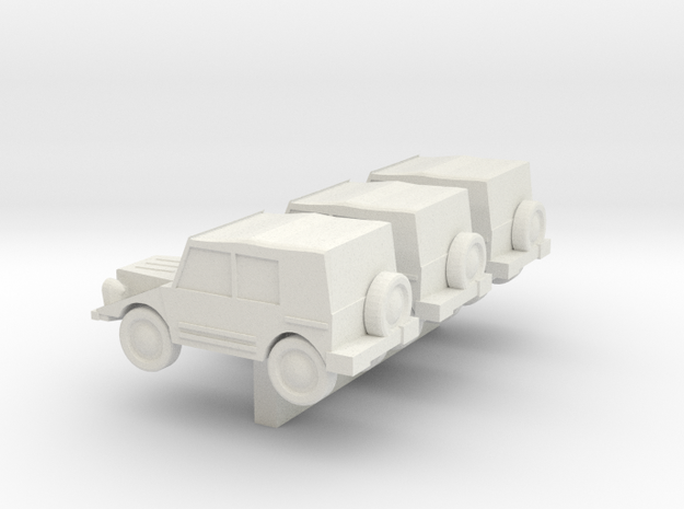 N Scale DKW Munga in White Strong & Flexible