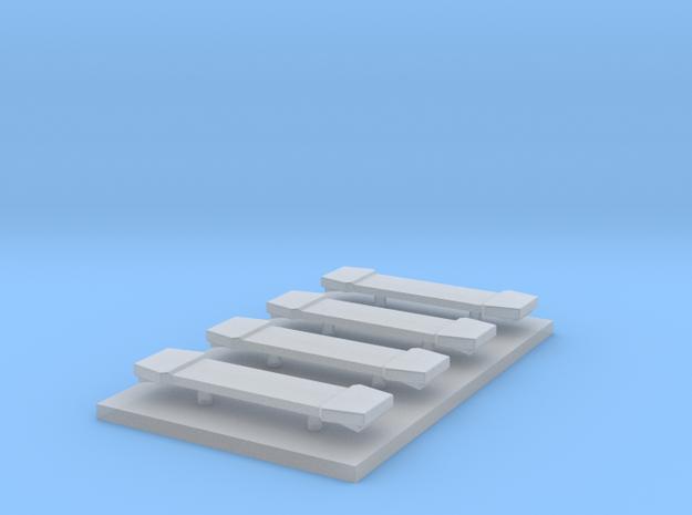 LED Lightbar 16,5 mm 4 stuks 1:87 in Smooth Fine Detail Plastic