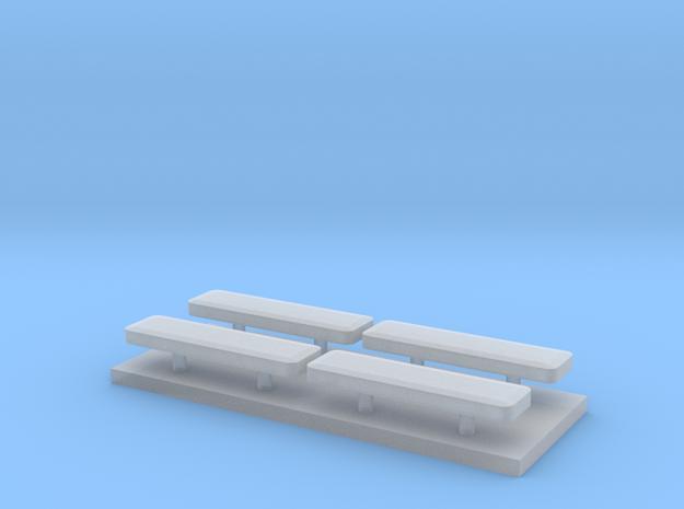 Whelen lightbar 13 mm 4stuks 1:87 in Smooth Fine Detail Plastic