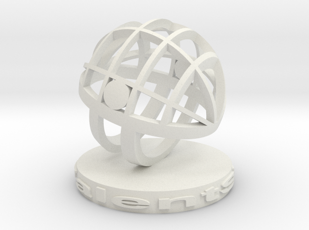 TalentSphere 3D with Stand in White Strong & Flexible