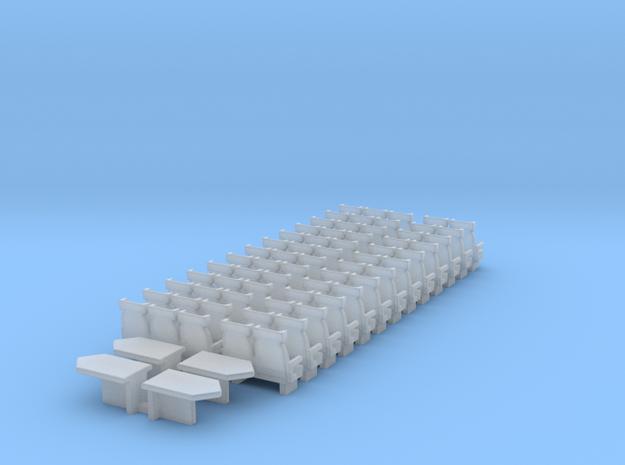Sitze für Interregio 2.Kl. TT 1:120 in Smooth Fine Detail Plastic
