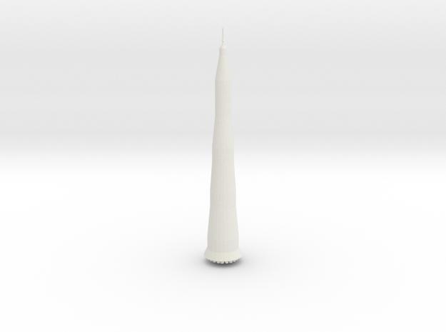 N 1 Rocket in White Natural Versatile Plastic