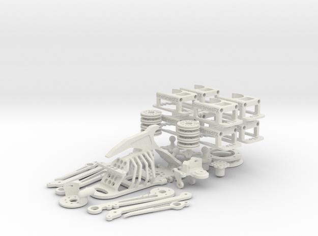Body & Mount Kit (No head) in White Strong & Flexible