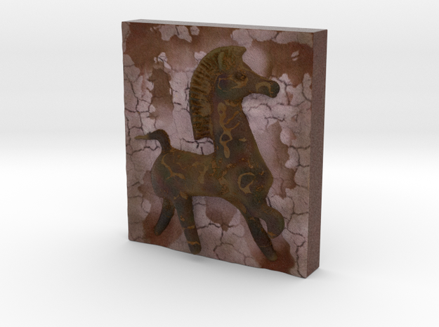 Bucephalus Horse Relief  in Full Color Sandstone