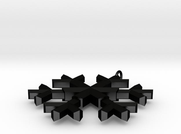 A wee snowflake pendant 3d printed