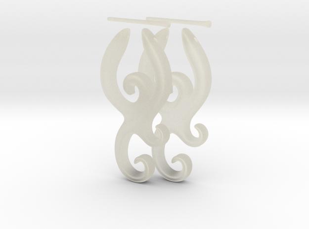 Tribal Earrings x 2 3d printed
