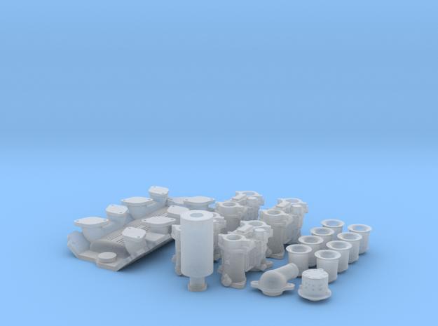 1/16 SBC Weber Intake System 3d printed