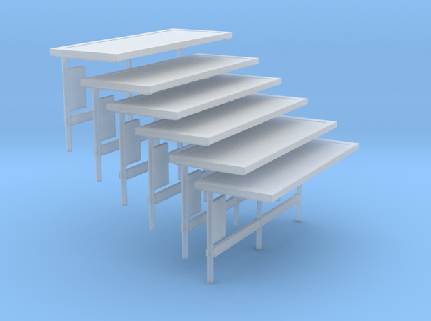 N scale Large Bus Shelter 6 pack 3d printed