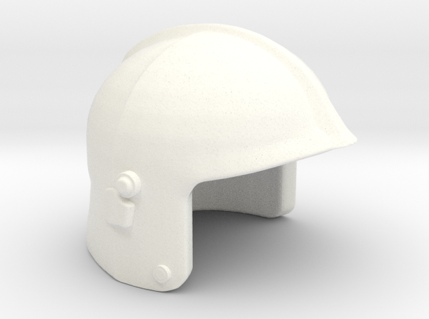 Fire Helmet Gallet in White Processed Versatile Plastic