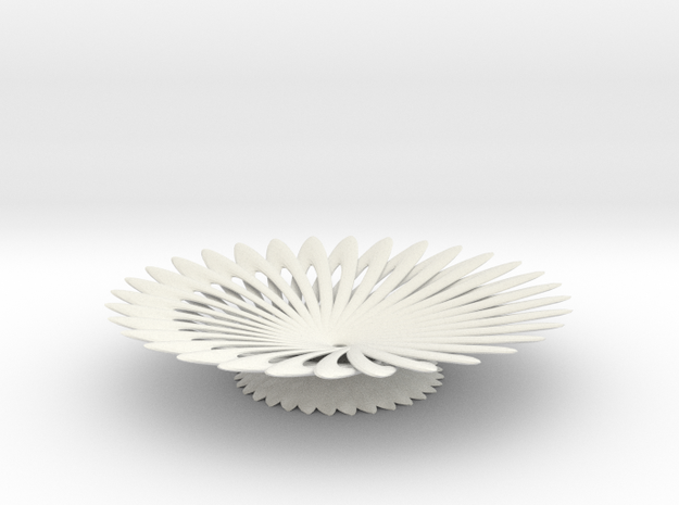 platter in White Natural Versatile Plastic