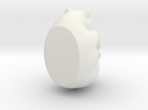 bear curled in White Natural Versatile Plastic