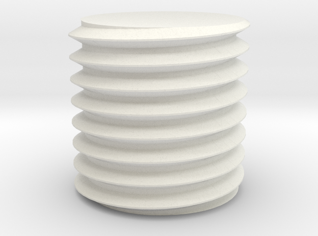 Bolt/Machine screw threads - Openscad ISO-standard in White Natural Versatile Plastic