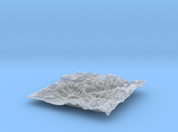 6'' Zion National Park Terrain Model, Utah, USA 3d printed