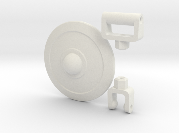Buckler Shield Kit for ModiBot  in White Natural Versatile Plastic