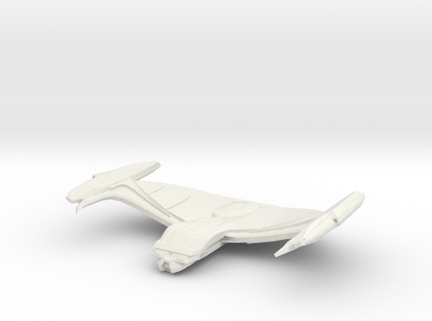 Comet Class Cruiser in White Natural Versatile Plastic