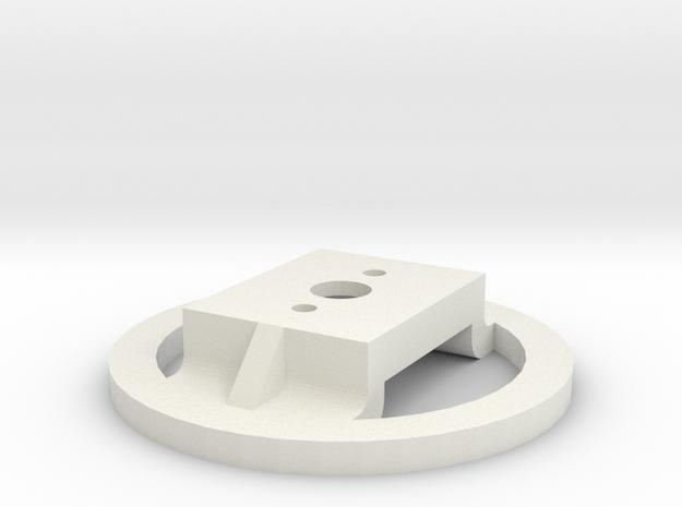 Motorhalterung - Version 2  in White Natural Versatile Plastic