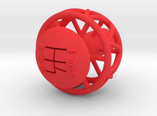 Ariel Atom 5 Speed knob for Ecotec - Helicoil in Red Processed Versatile Plastic