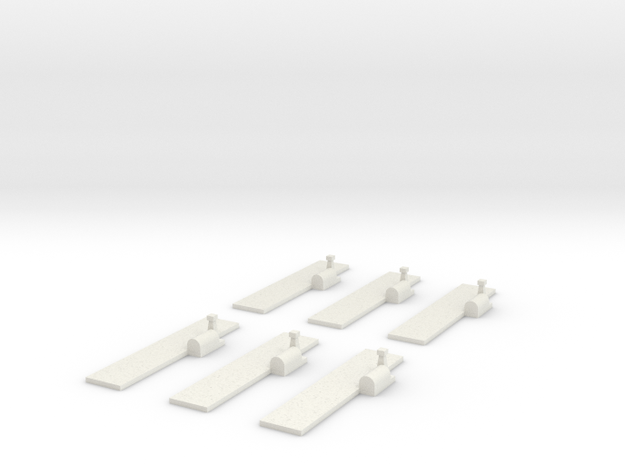 Airfields (all straight) x6 in White Natural Versatile Plastic