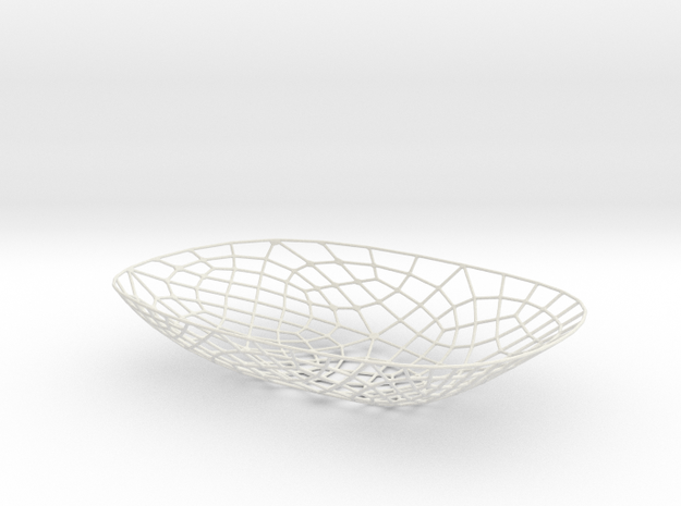 Exoskeletal Bowl 002 in White Strong & Flexible