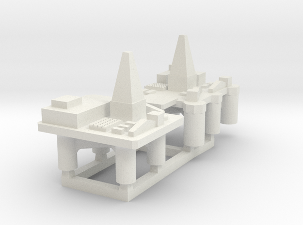 60TD01 1:6000 Oil Rigs x2 in White Strong & Flexible