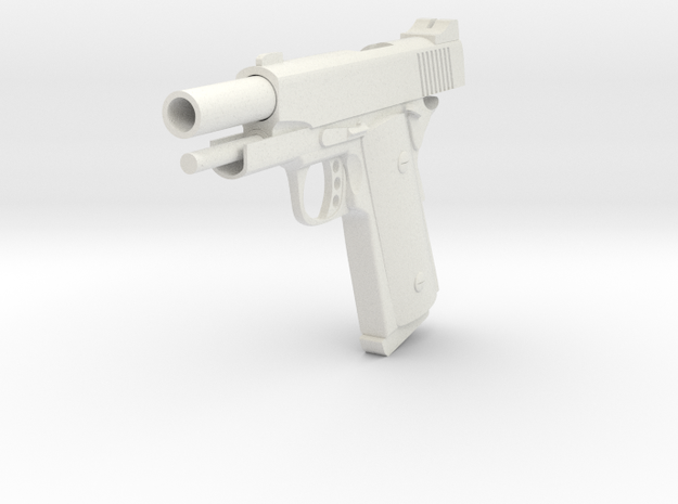 1911 compact blowback in White Natural Versatile Plastic