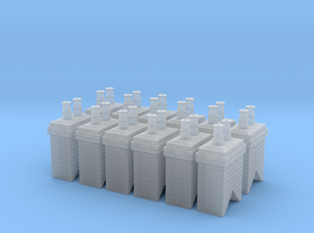 Chimney Stack 1 X 12 N Scale in Smooth Fine Detail Plastic