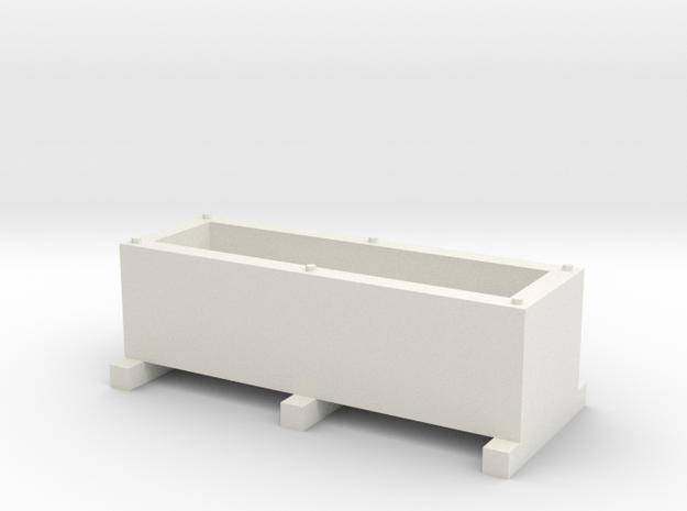 Rectangular Planter Box (Small) in White Strong & Flexible