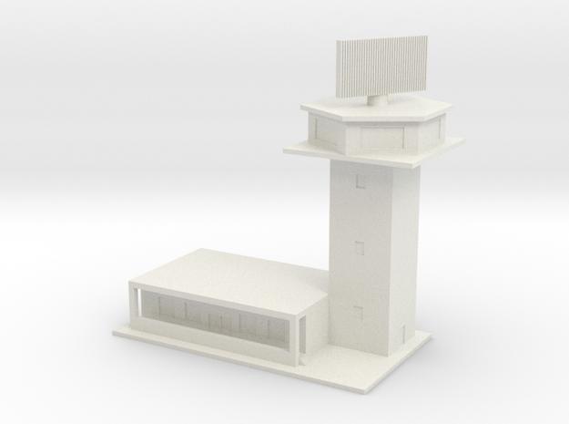 1/700 Control Tower And RADAR in White Natural Versatile Plastic