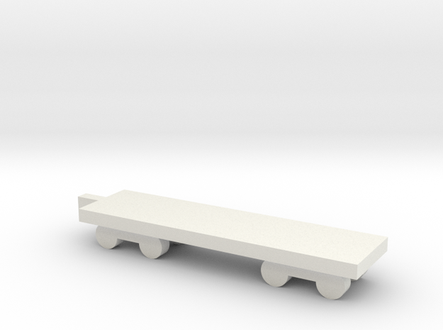 1/700 Flat Boxcar in White Natural Versatile Plastic