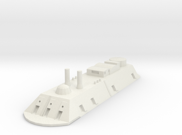 USS Essex 1/700 in White Natural Versatile Plastic