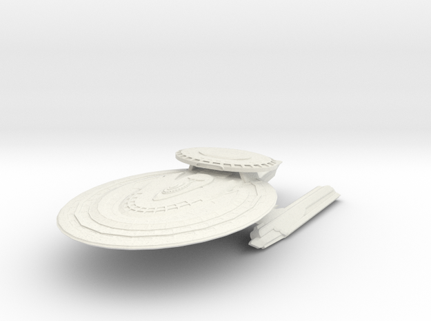 Achilles Class HvyCruiser in White Strong & Flexible