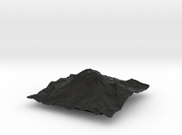 8'' Mt. Rainier Terrain Model, Washington, USA 3d printed