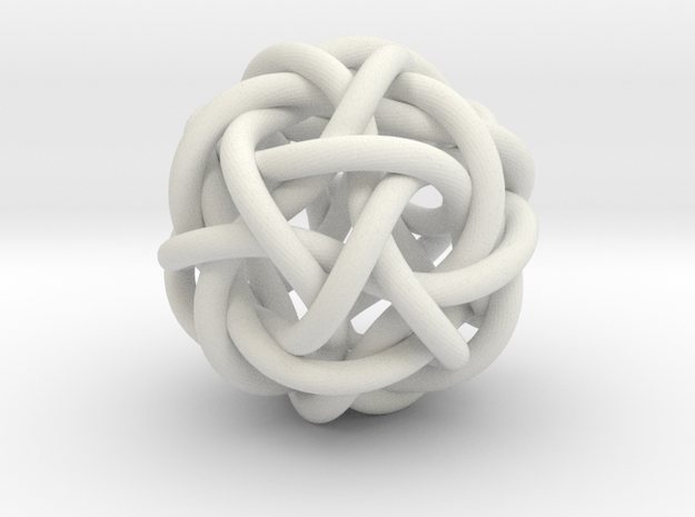 DecaTwistorSimplest in White Natural Versatile Plastic