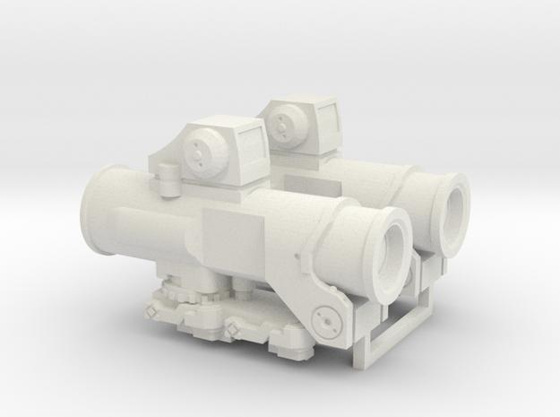 1:6 Scale Combat Sight 2 Pcs in White Natural Versatile Plastic