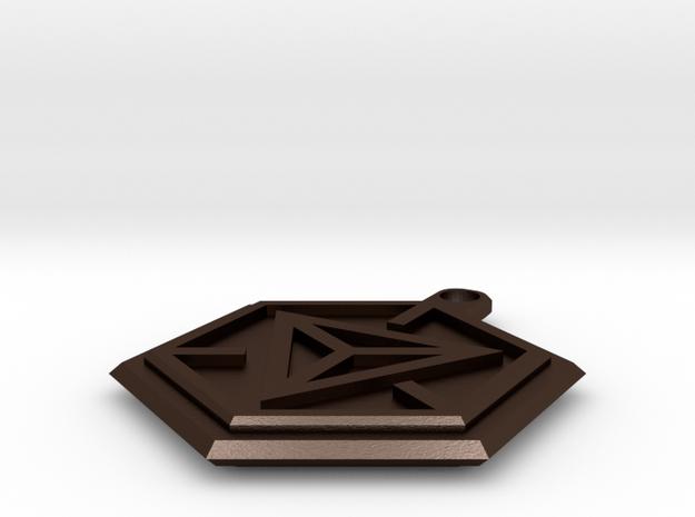 Ingress Portal Keyring 3d printed