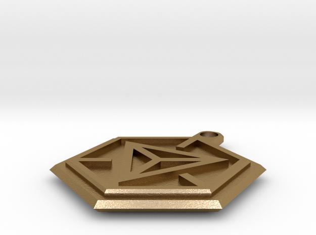 Portal Keyring in Polished Gold Steel