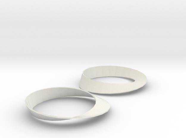 Moebius8 Matlab in White Natural Versatile Plastic